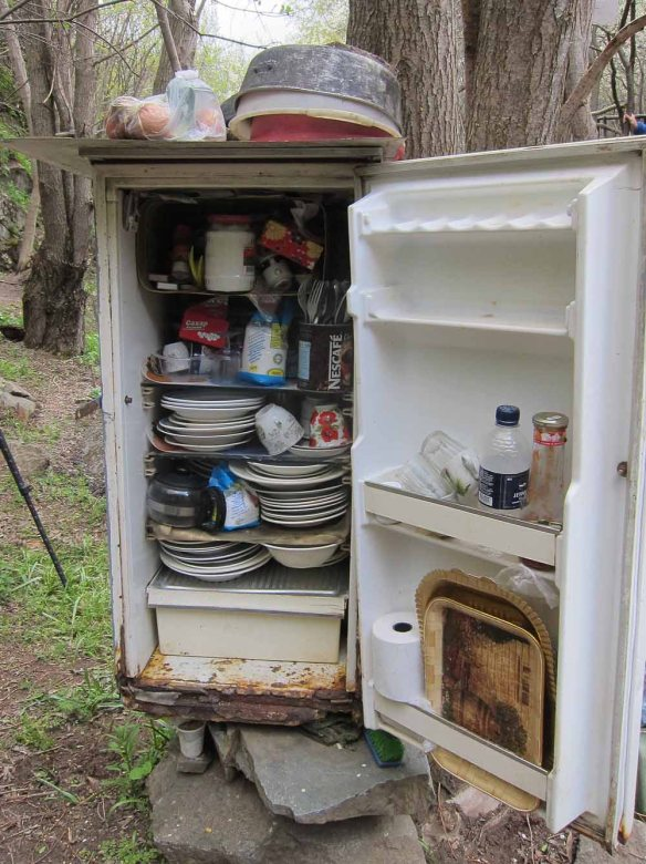 Picnic site fridge
